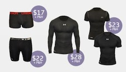Under Armor men's compression wear!