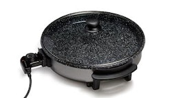 Stone-coated, non-stick electric fry pan,