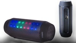 Portable Bluetooth speaker w/ flashing