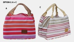Two insulated lunch bags, just