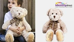 Personalised teddy bear, $19 +