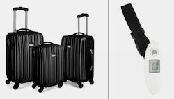 Three piece hard shell luggage