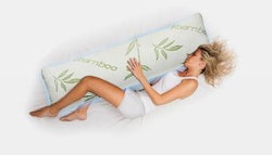Memory foam body pillow with