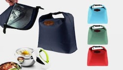 TWO convenient thermal lunch bags,