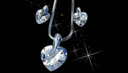 Swarovski crystal heart shaped jewellery
