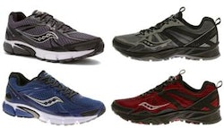 Pair of men's Saucony trainers,