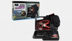 30-piece roadside emergency kit for