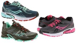 Pair of women's Saucony trainers,