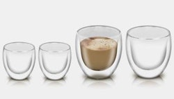 Double wall glass tumblers! Set