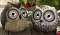 Three Solar Owl Lights