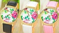 Floral Watch with SWAROVSKI ELEMENTS