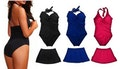 Push-Up Swimsuit with Removable Skirt