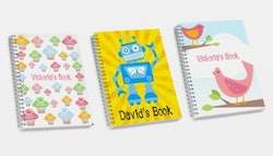 Personalised children's sketch book.