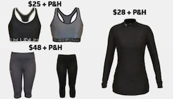 Under Armor women's compression wear!