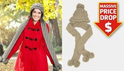 PRICE DROP! Knitted hooded scarf.