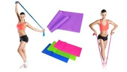 Yoga or pilates stretcher band,