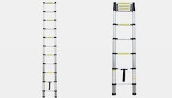 Handy 3.2m telescopic ladder.