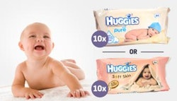 10-pack Huggies baby wipes. Choose