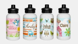 Personalised drink bottle with pop