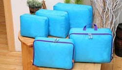 Five piece suitcase organiser set,