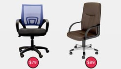 Office chairs: Decora ($79 +