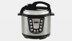 6-in-1 pressure cooker with non-stick