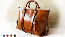 Genuine leather handbag, $99.