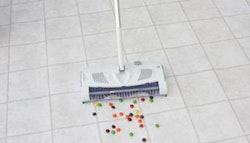 2-in-1  dry mop & sweeper