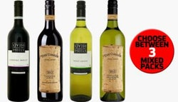 A dozen mixed wines from