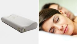 Memory foam pillow with bamboo