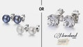 Crystal OR pearl earrings, just