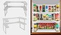 Nifty spice rack/shelf organiser, $19