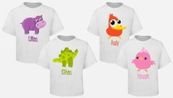 Personalised kids t-shirt, from $17