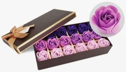 Soap flower set in gift